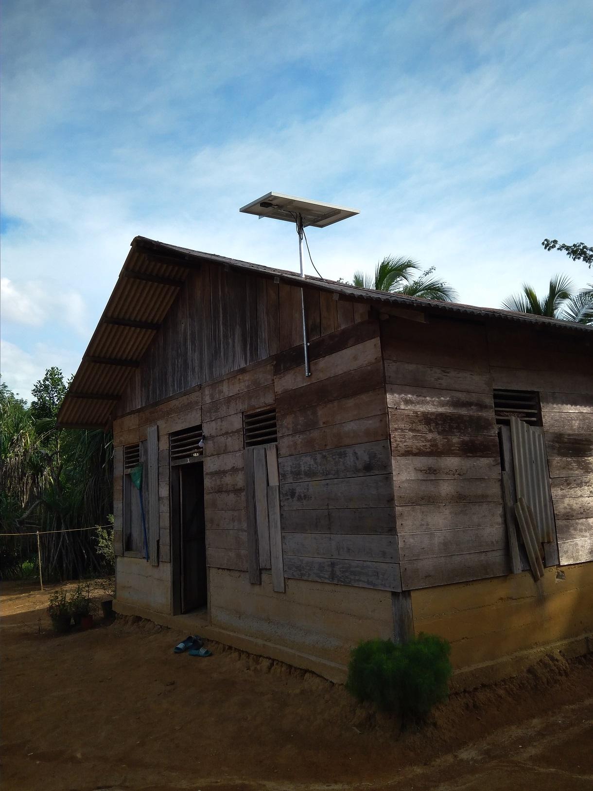 SHS - Pemasangan Solar Home System di Riau