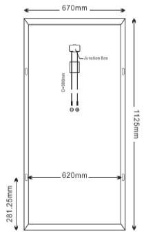 Dimensi Panel Surya SP100-18P