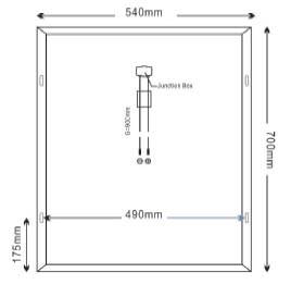 Dimensi Panel Surya SP50-18P