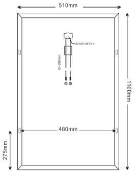 Dimensi Panel Surya SP80-18P