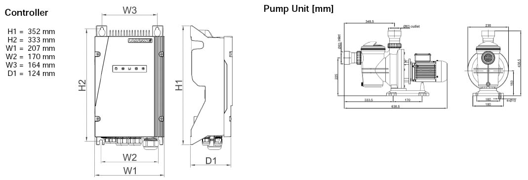 Dimensi Pompa Air Lorentz PS2-600 CS-17-1