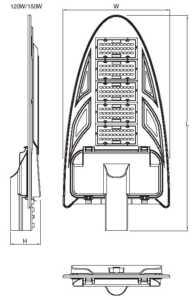 Dimensi Ledenvo Led Street Light Series 120/150W