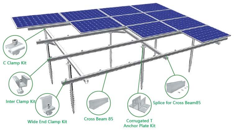Bracket Rangka Panel Surya MRac Ground Terrace GT5
