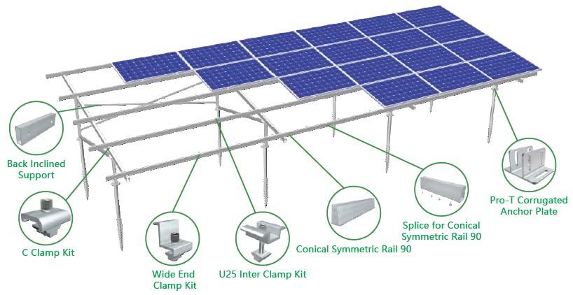 Bracket Solar Panel MRac Pro Ground Terrace PGT4