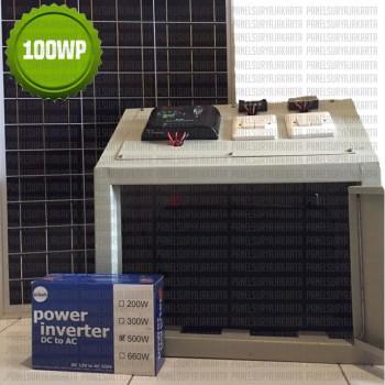 Pembangkit Listrik Tenaga Surya rumahan atau Solar Home System 300-500 watt