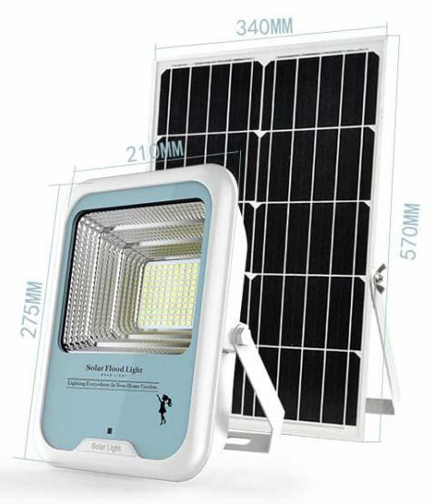 Lampu penerangan all in one tenaga surya 1200 lumens