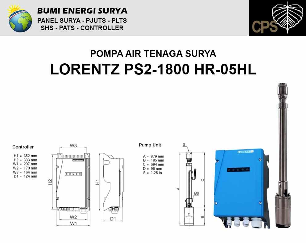 Pompa Air Tenaga Surya Lorentz PS2-1800 HR-05HL