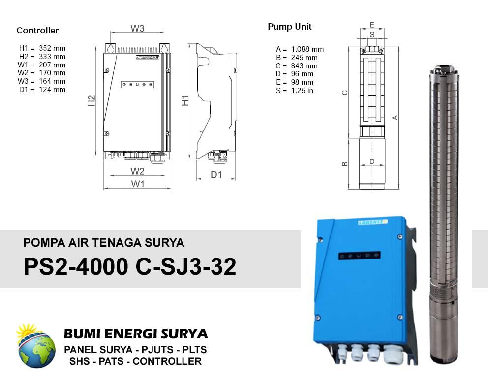Pompa Air Tenaga Surya Lorentz PS2-4000 C-SJ3-32