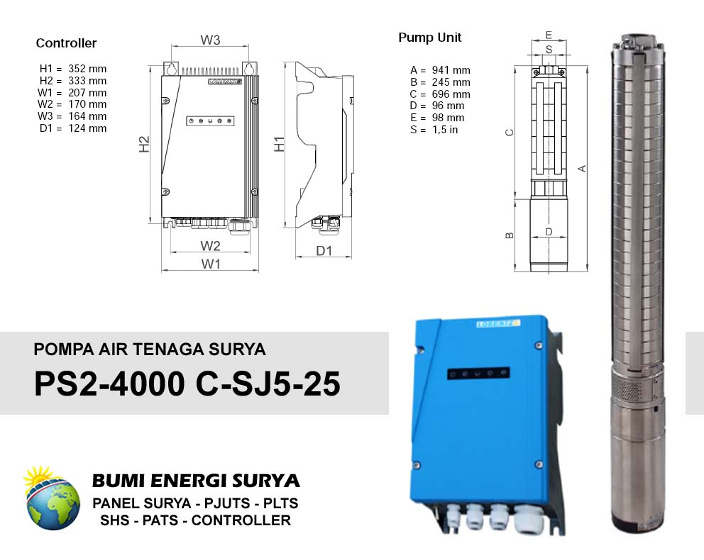 Pompa Air Tenaga Surya (PATS) Lorentz PS2-4000 C-SJ5-25