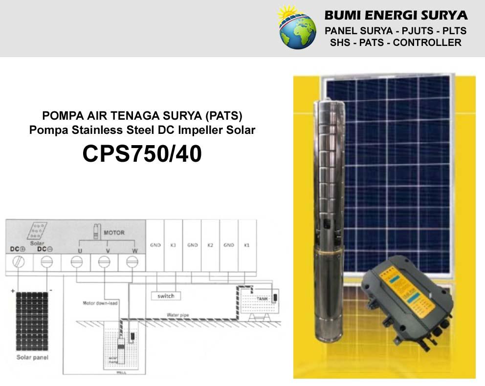 Pompa Air Tenaga Surya CPS750/40