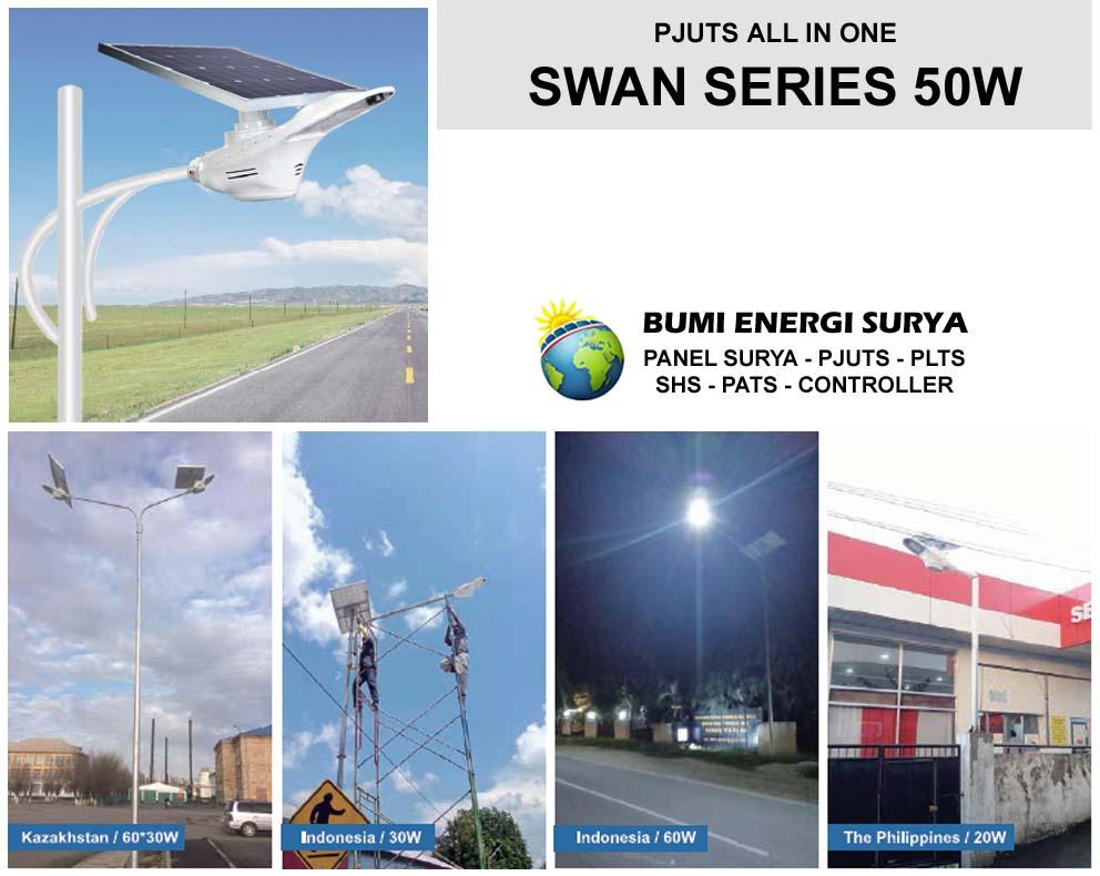 Lampu PJUTS All In One Swan Series 50W