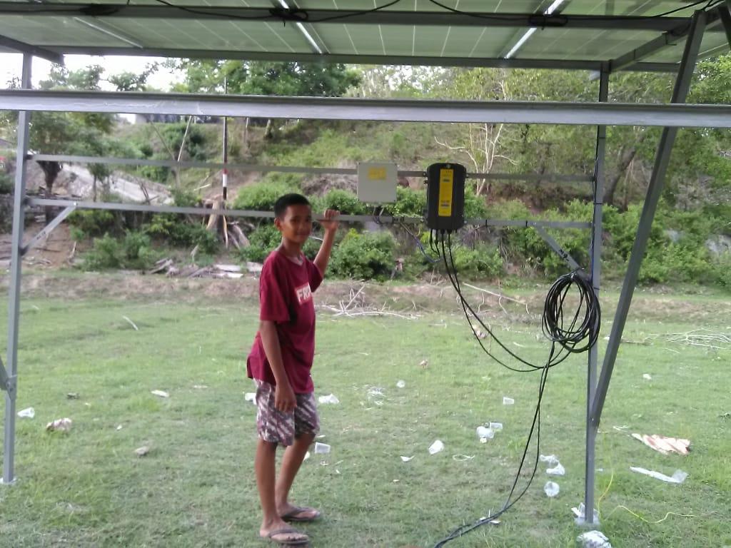 Pamasangan Pompa Air Tenaga Surya (PATS) di Pareparepats Sulawesi Selatan