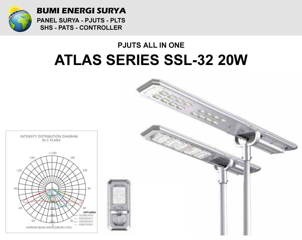 Lampu Jalan LED Atlas Series SSL-32 20W