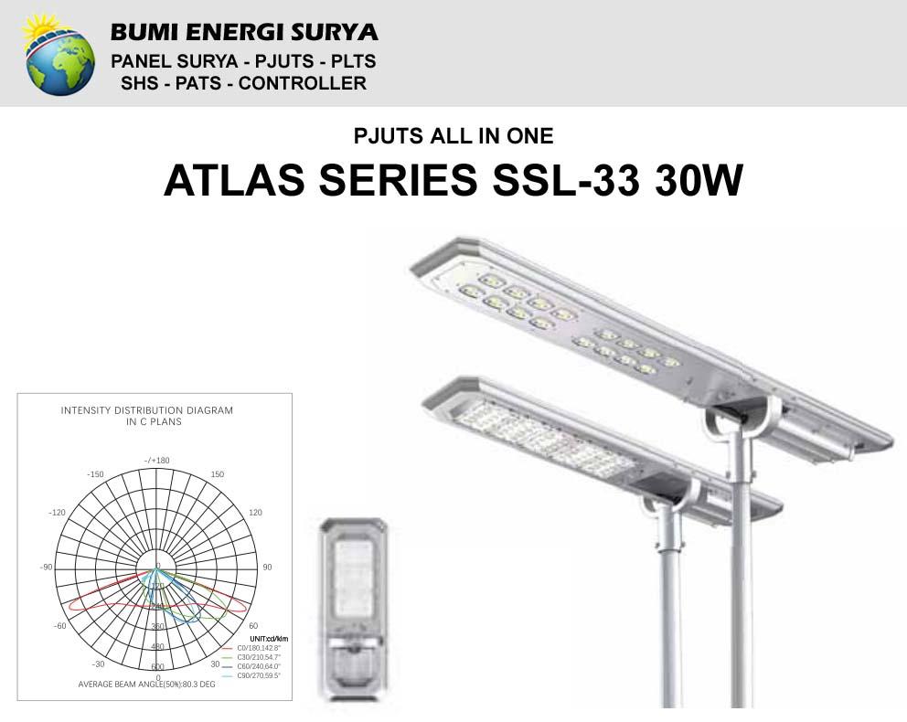 Lampu Jalan All In One Atlas Series SSL-33 30W