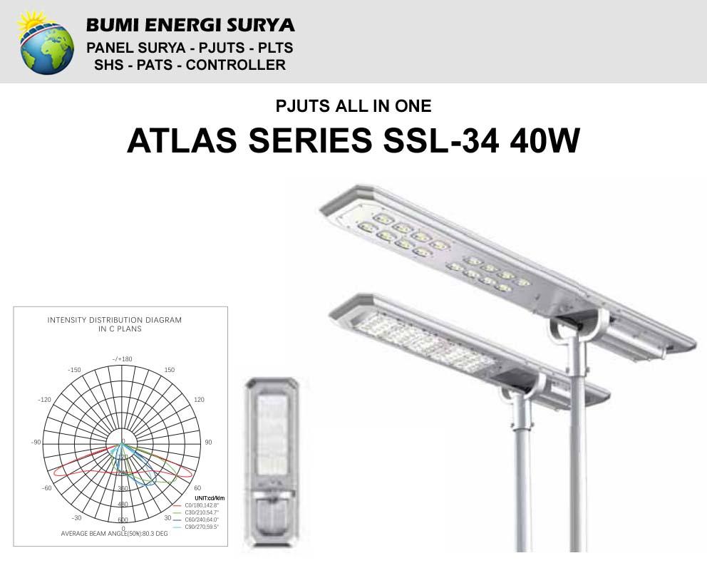 Lampu Hemat Energi PJUTS All In One SSL-34 40W