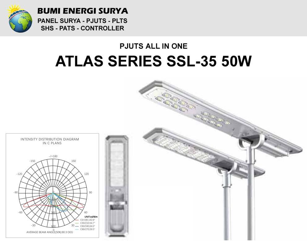 Lampu Tenaga Surya All In One Atlas Series SSL-35 50W