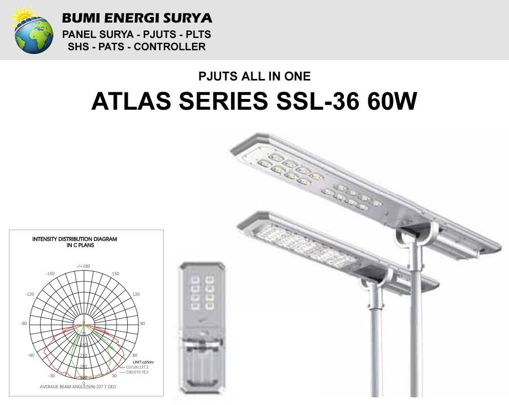 Penerangan All In One SSL-36 60W Atlas Series