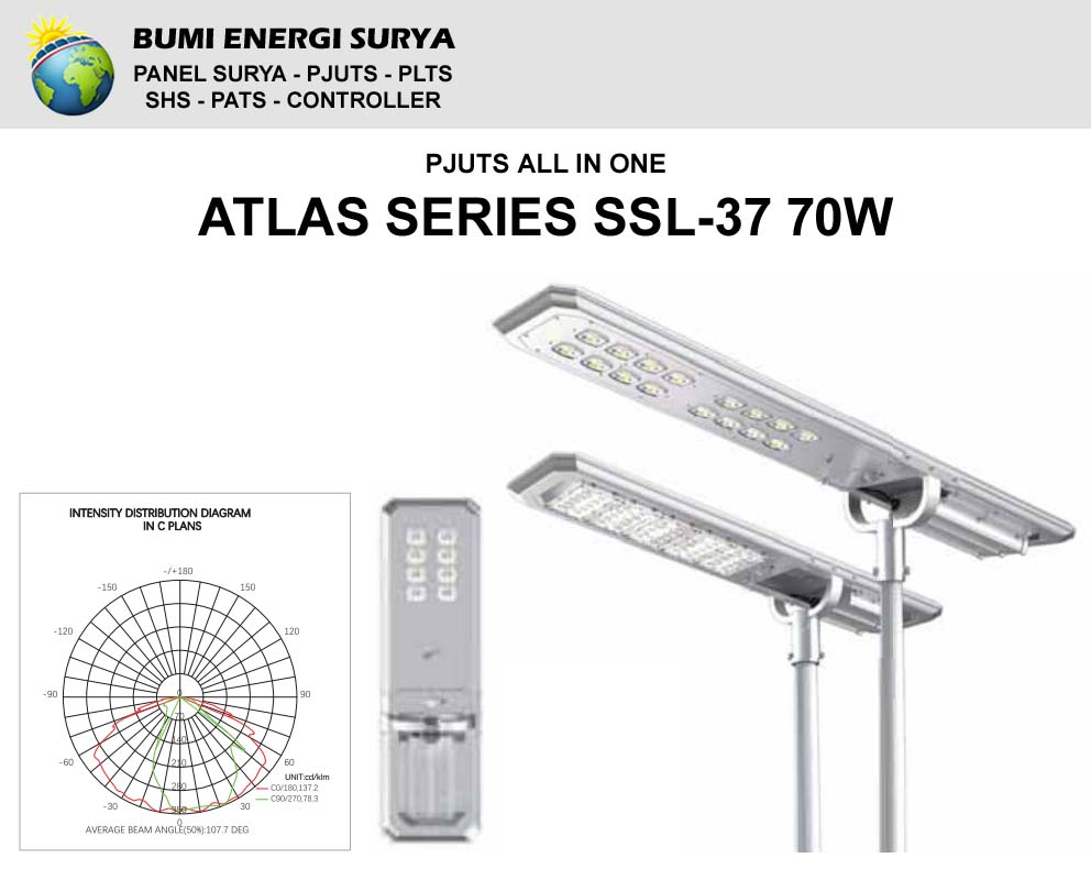 Lampu PJU Tenaga Surya SSL-37 70W