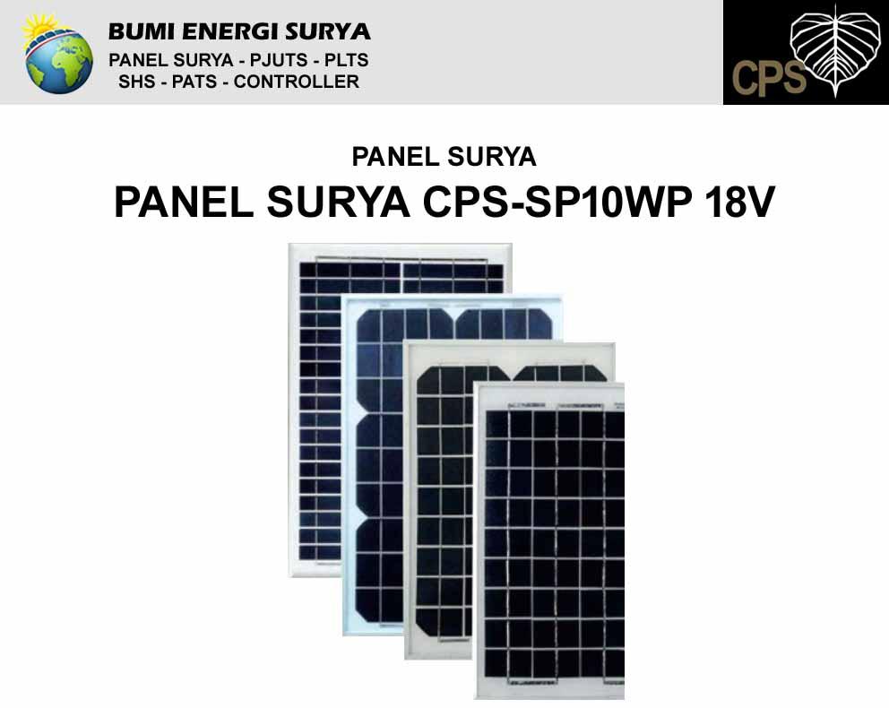 panel surya 10wp 18v cps