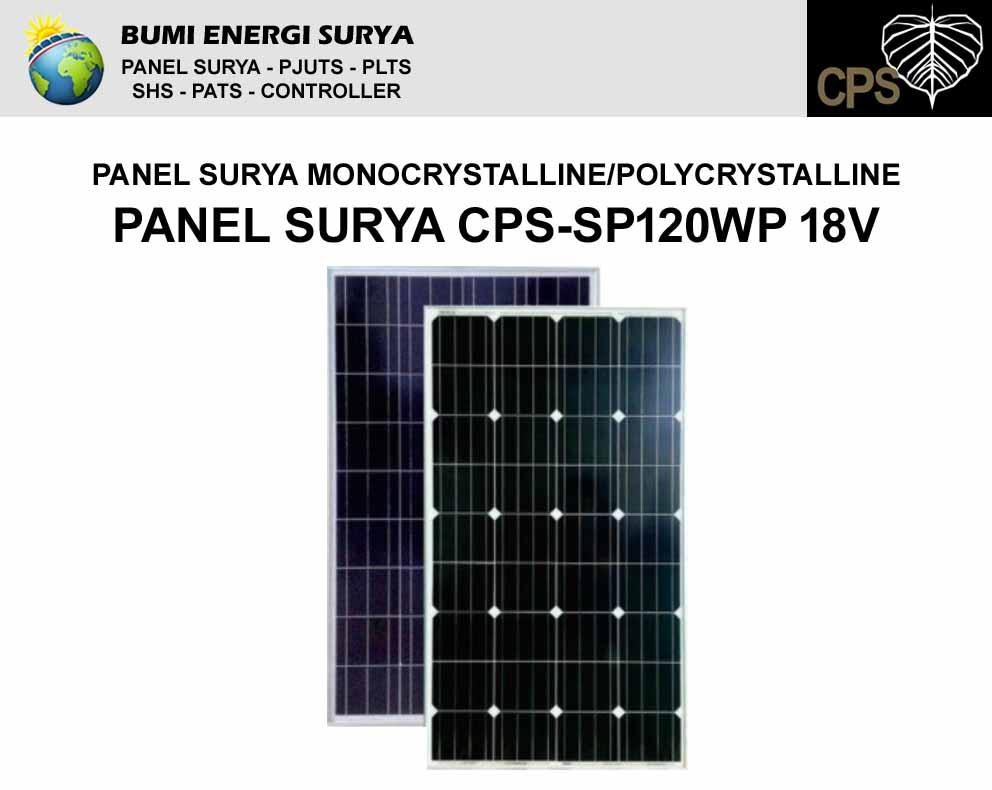 modul panel surya 120wp 18v