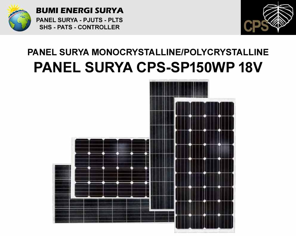 panel surya 150 wp monocrystalline polycrystalline