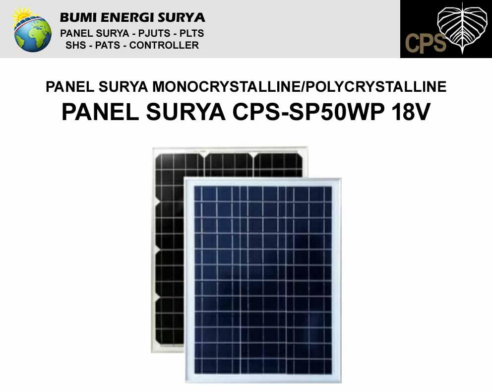 panel surya 50wp 18v cps