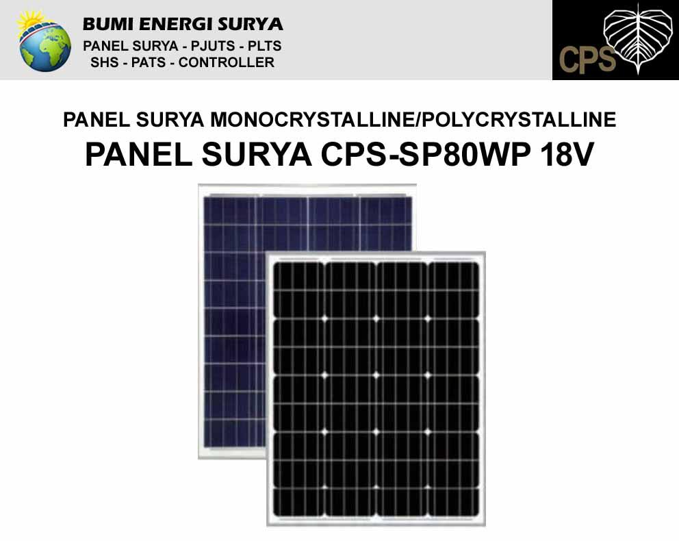panel surya 80wp 18v cps