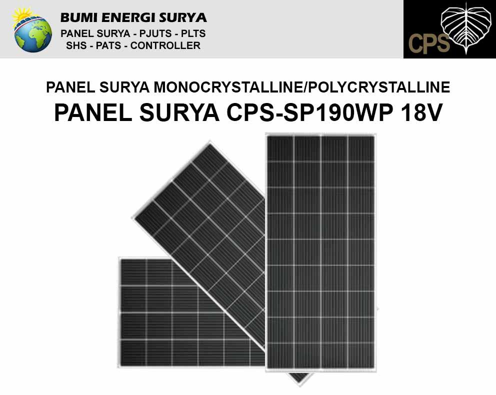 panel surya 190wp 18v