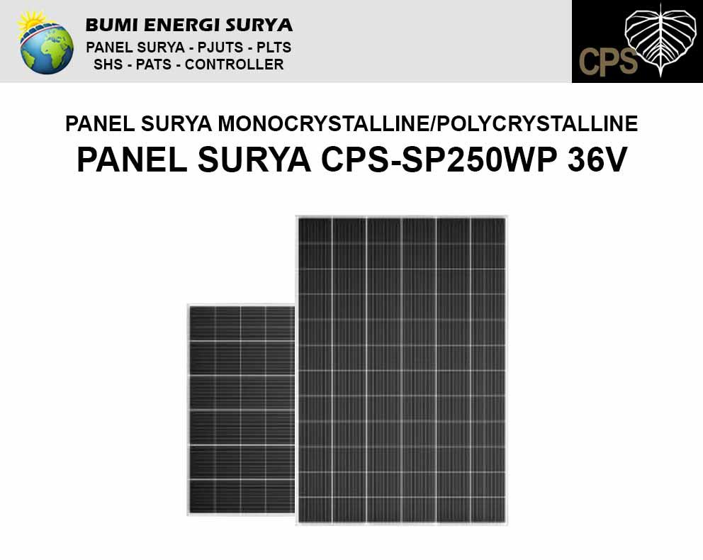 modul panel surya 250wp 36v monocrystalline polycrystalline