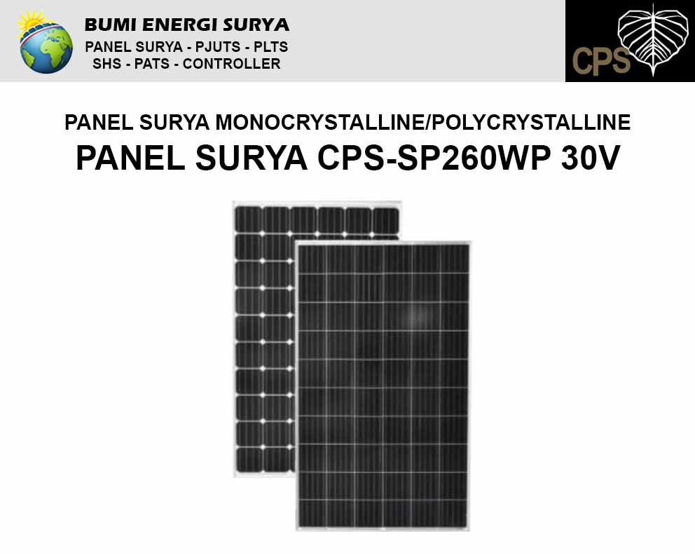 panel surya 260 wp 30v