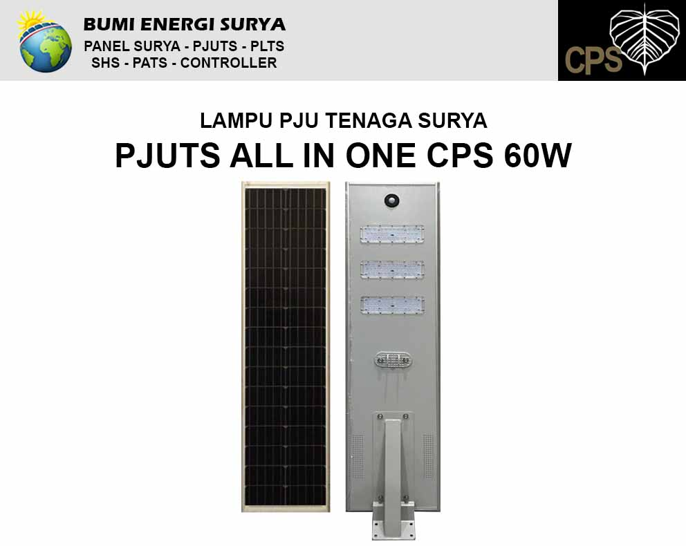 lampu PJU Tenaga Surya AIO CPS 60W