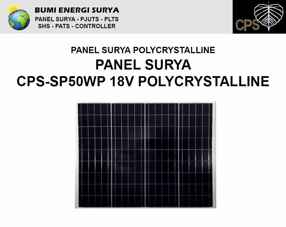 panel surya 50wp polycrystalline