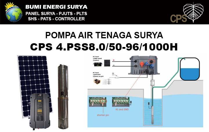 pompa air tenaga surya submersible 4pss8 1000w