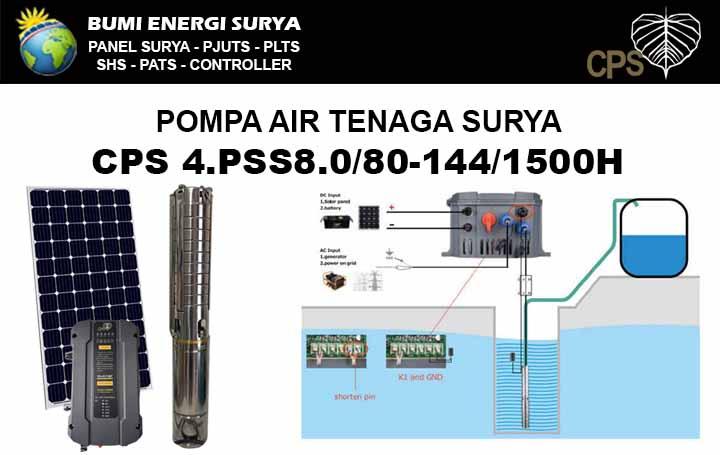 pompa air tenaga surya 4pss8 1500w