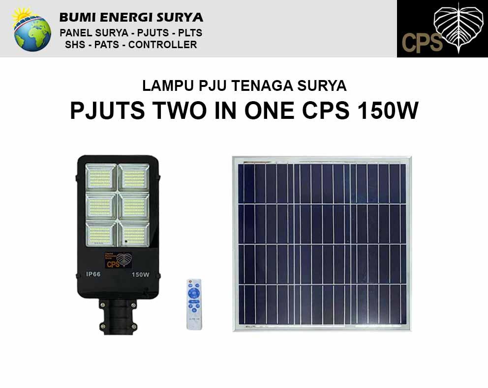 lampu pju tenaga surya two in 1 cps 150w