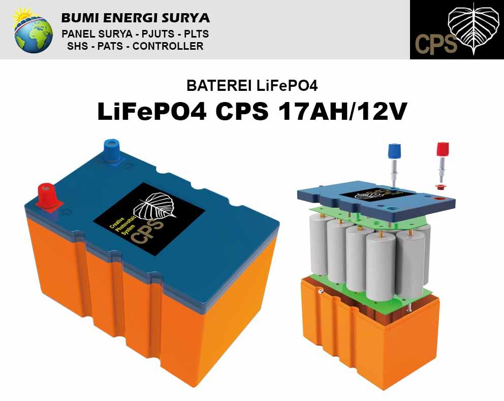 Baterai LiFePO4 17AH 12V panel surya