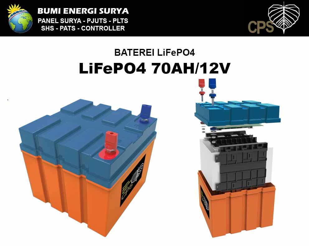 Baterai panel surya LiFePO4 CPS 70AH 12V
