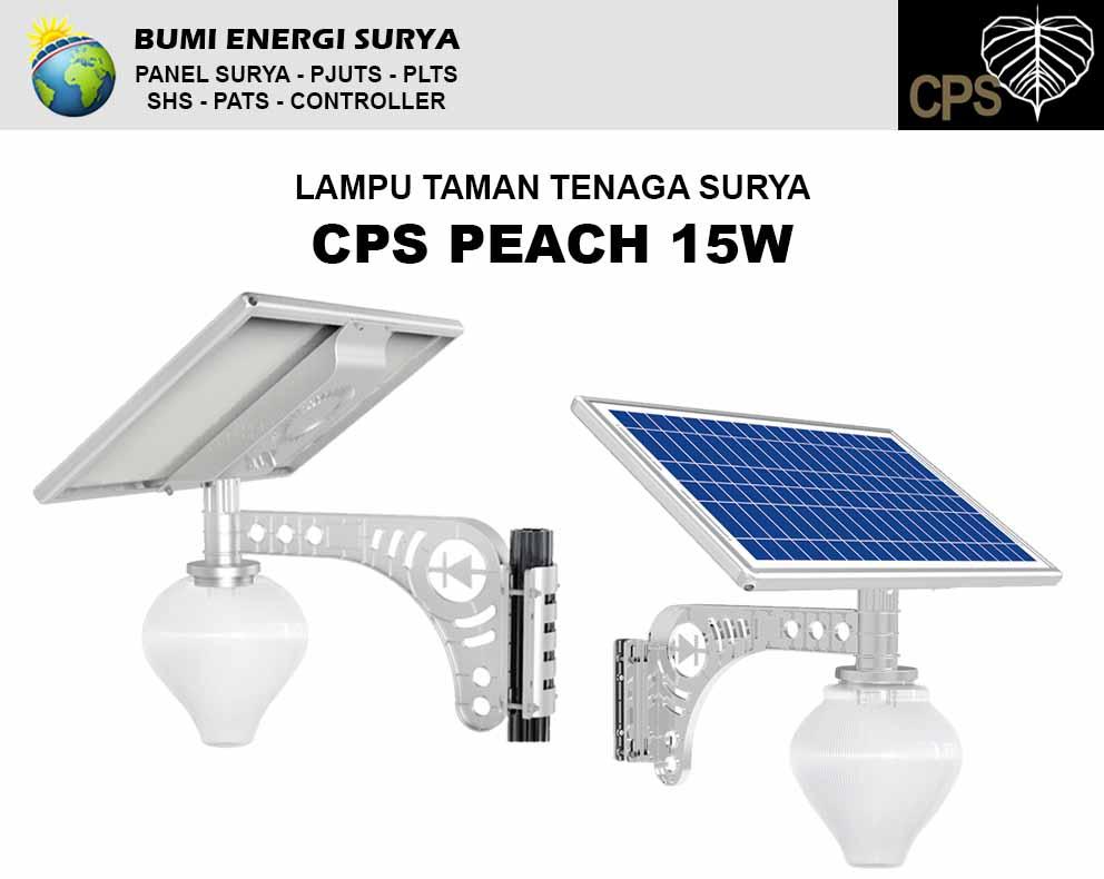 Lampu taman tenaga surya cps peach 15w
