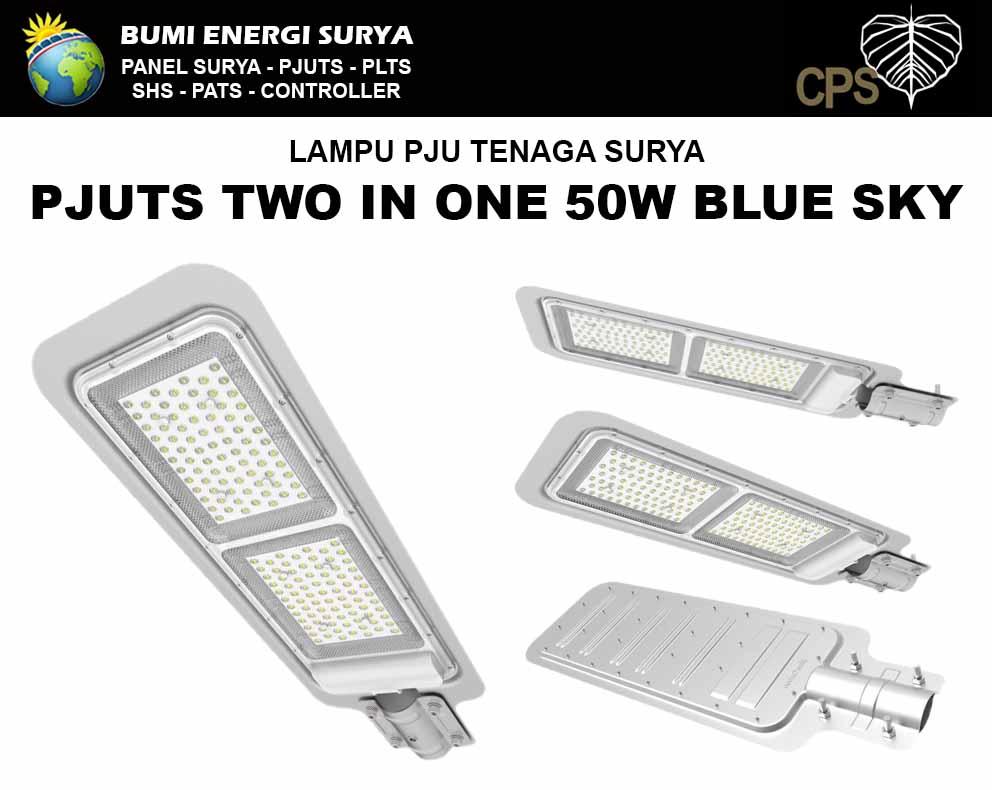 lampu PJU Tenaga Surya two in one 50w