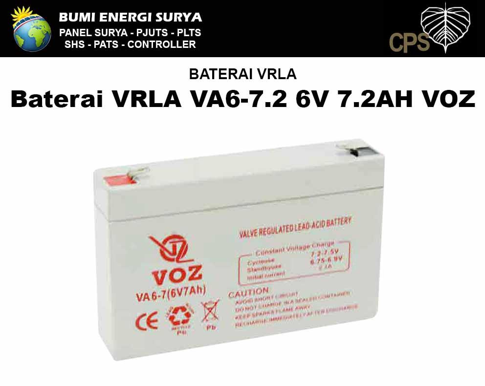 Baterai 6 volt 7.2ah VRLA VA6-7.2 6V 7.2AH VOZ