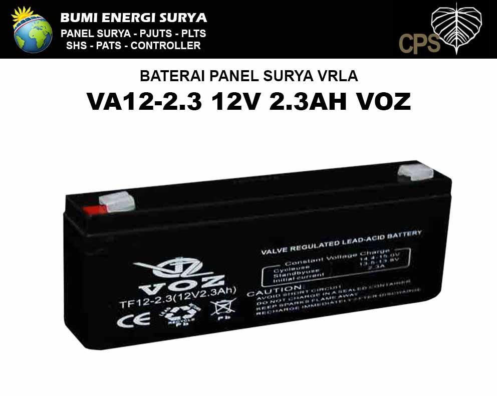 baterai panel surya vrla 2.3ah 12v voz b