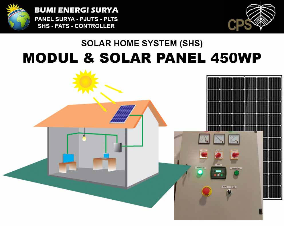 modul dan solar cell 450wp