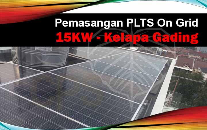 instalasi plts on grid 15kw kelapa gading