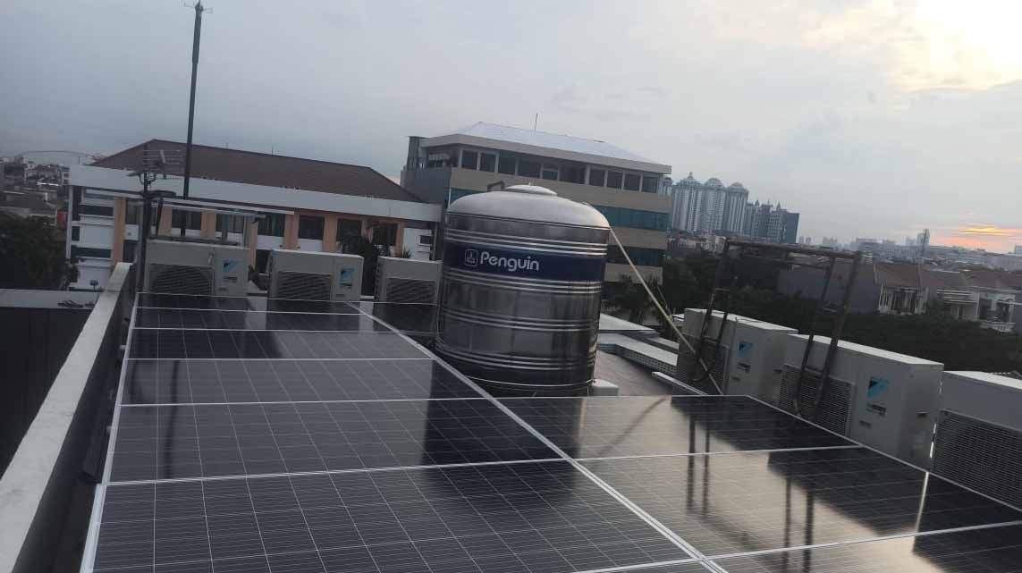 pembangkit listrik tenaga surya on grid 15kw