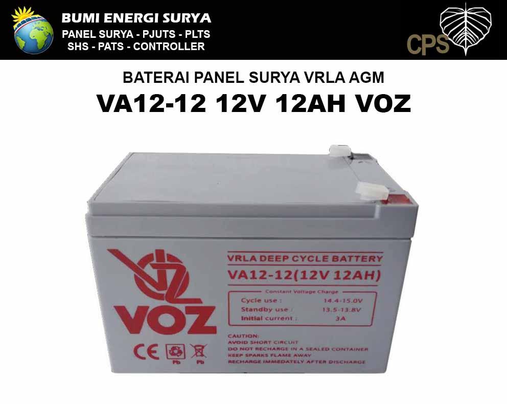 Baterai VRLA Deep Cycle 12v 12ah VOZ VA12-12 VOZ