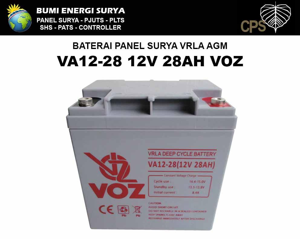 Baterai Solar Panel VRLA 28AH 12V VA12-28 VOZ
