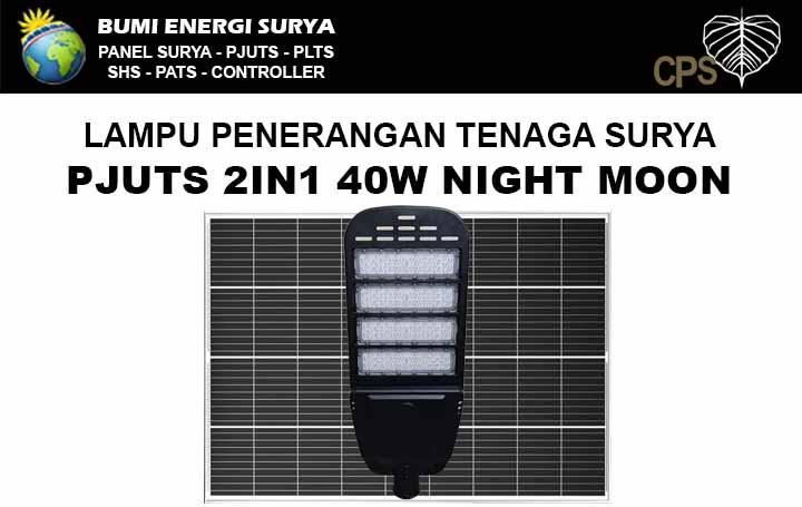 Lampu PJUTS Two In One 40W night moon
