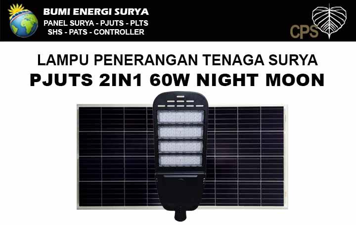 Lampu Jalan Tenaga Surya - PJUTS 2in1 60W Night Moon
