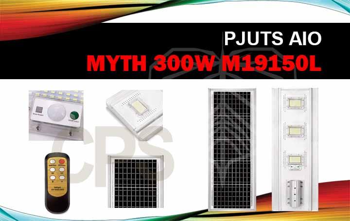 lampu penerangan tenaga surya aio 300w myth m19150l