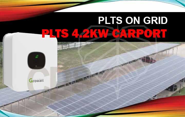 plts on-grid 4.2Kw carport